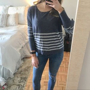 Comfy Striped Lightweight Knit Sweater